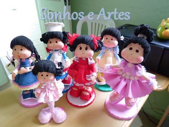 Bonecas em E.V.A