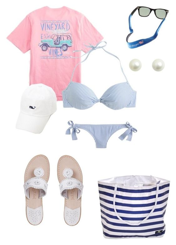 """let's go to the beach contest!!!"" by emily-stichweh ❤ liked on Polyvore featuring J.Crew, Vineyard Vines, Jack Rogers, women's clothing, women's fashion, women, female, woman, misses and juniors"