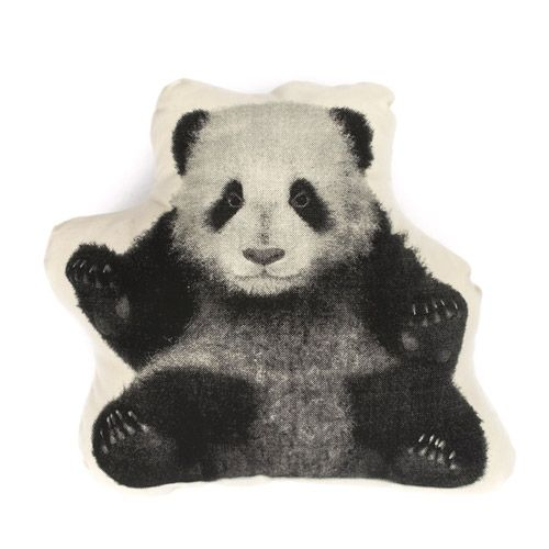 Next best thing to having a baby panda, a pillow with a picture of a baby panda? by AREAWARE