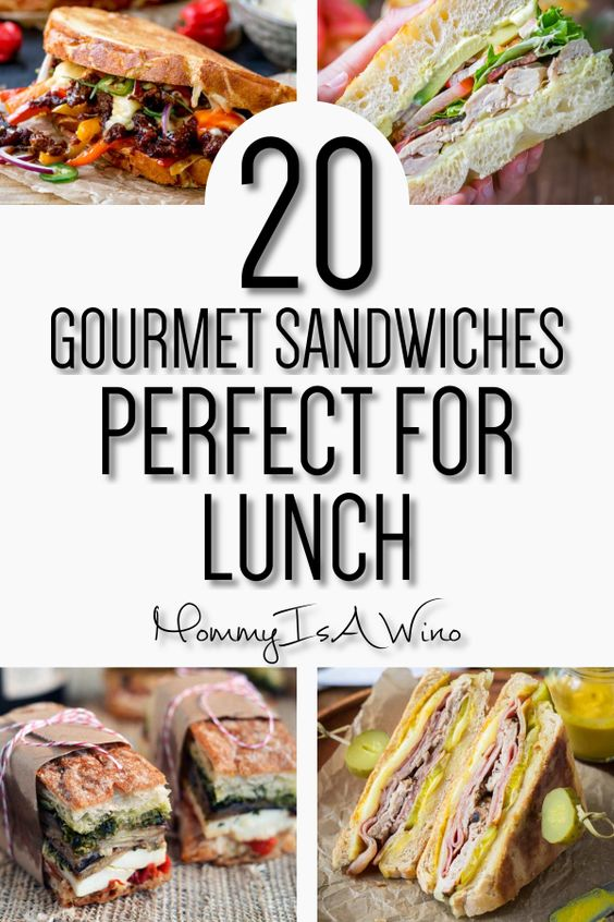 20 Gourmet Sandwiches Perfect for Lunch - Mommy Thrives