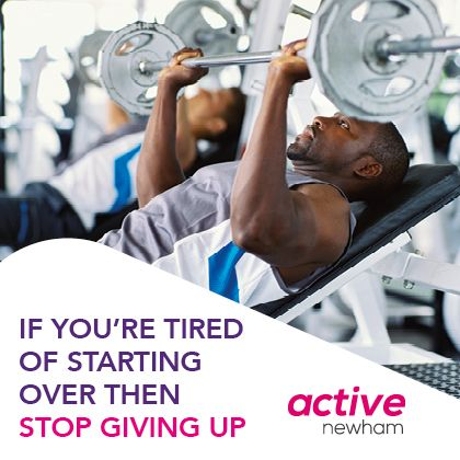 If you're tired of starting over then stop giving up.
