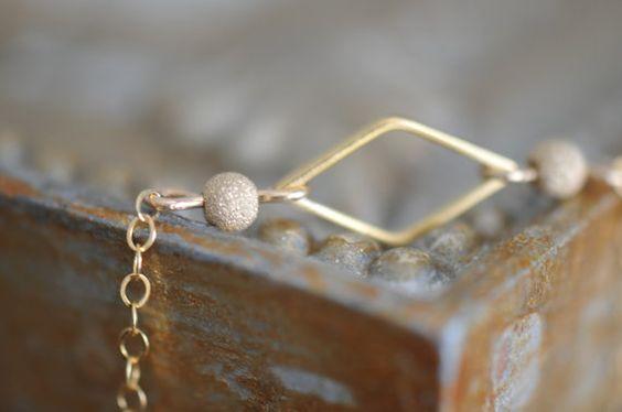 Gold Stardust Bracelet 14K Gold Bracelet Gold by LaceCharming