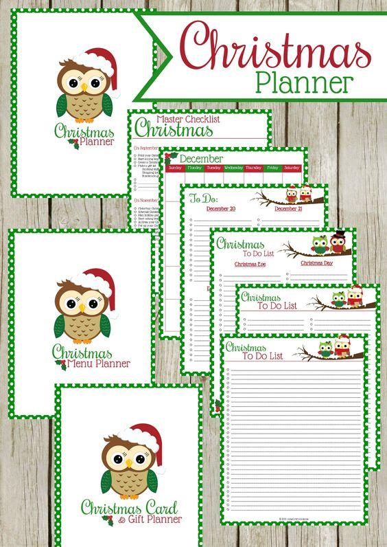 Printable Christmas Planner | Planners, Gift List and Menu ...