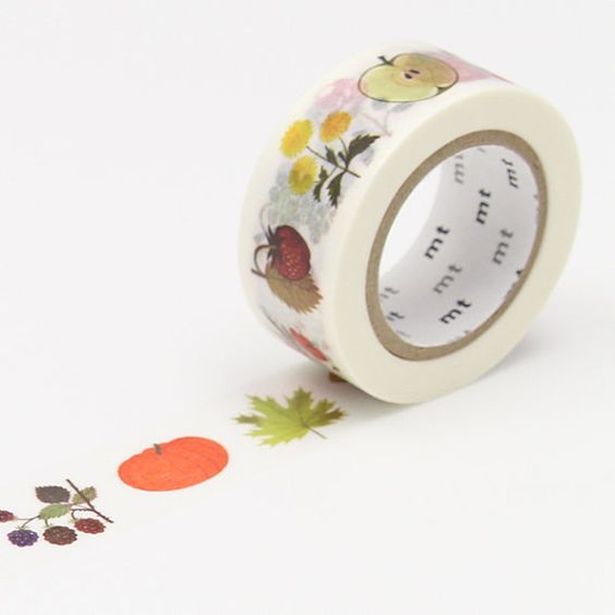 MT alain gree plant washi tape by foxandstar on Etsy