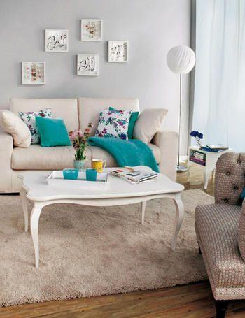 Salones con mucho gusto tables the pillow and love this - Salon comedor decoracion ...