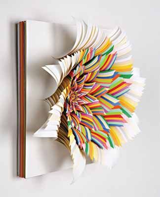 Colorful paper craft ideas contemporary wall art paper - Arts and crafts with paper ...