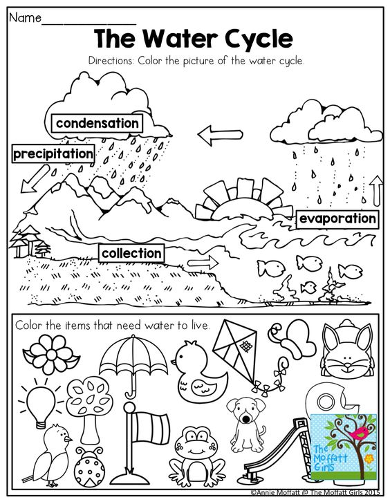 the water cycle coloring pages - photo#19
