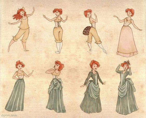 Camadas de roupas estilo vitoriano: