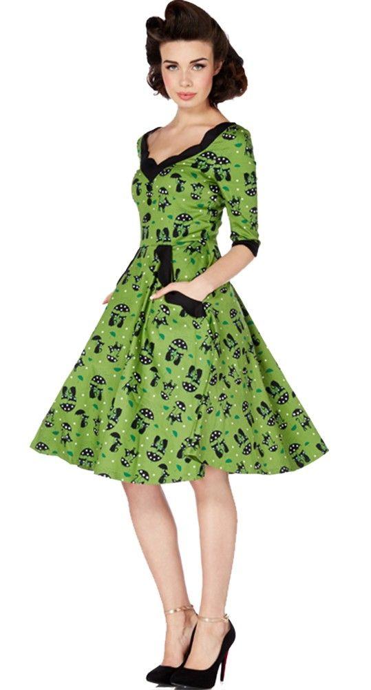 Voodoo Vixen Cats in the Rain Dress | Blame Betty