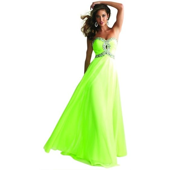 Pre-owned Night Moves Prom Collection Lime Green 6642 Dress ($250 ...