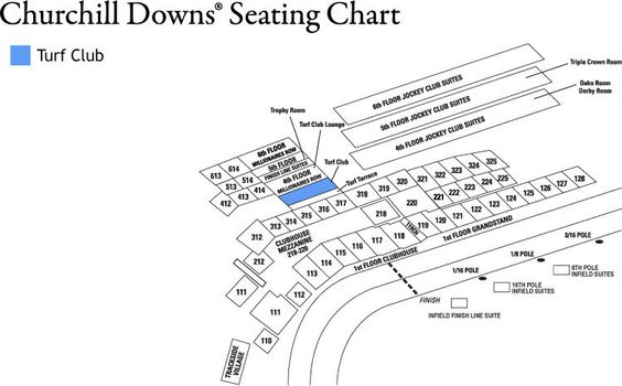 Best  Churchill Downs Seating Chart Ideas On