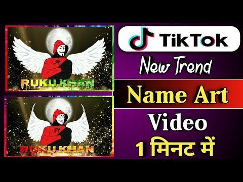 Tiktok New Trend Name Art Video Tutorial Tiktok Name Art Video Editing New Style Name Art Video Youtube Name Art Art Videos Tutorials Art Videos