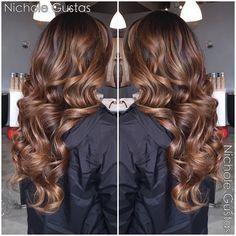 Caramel brunette balayage