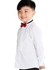 Boy's Tuxedo Shirt  with Long Sleeves 100% Cotton(Combed Cutton) High Quality White Shirt for Kids