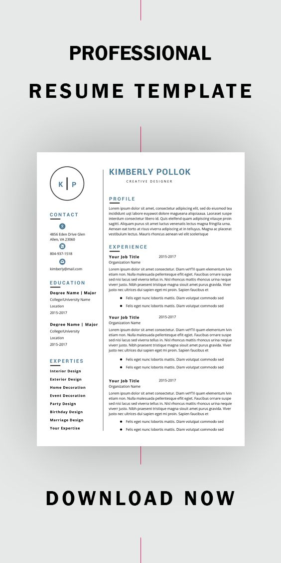 Resume Template Professional Resume Template Instant Download Resume Template Word Cv Cv Template Resume Template Free Resume Template Word Resume Template Teacher Resume Template