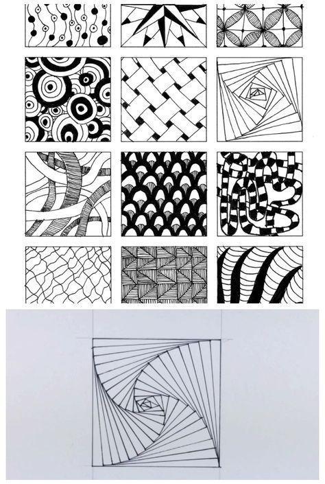 54 Cool Zentangle Doodle Pattern Ideas 836332593285020592