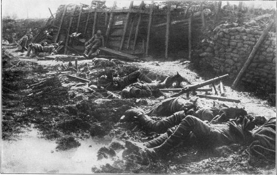 Nach Gasangriff 1917 - Chemical weapons in World War I