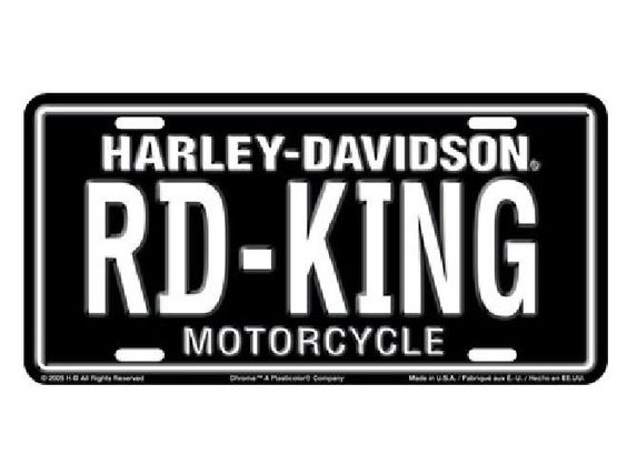 "harley-davidson® ""rd-king"" motorcycle auto tag / car license plate"