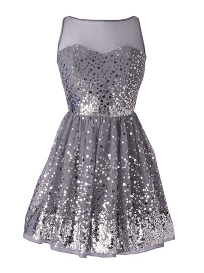 Delia&-39-s Allover Silver Sequin Dress: 30 Fancy Homecoming Party ...