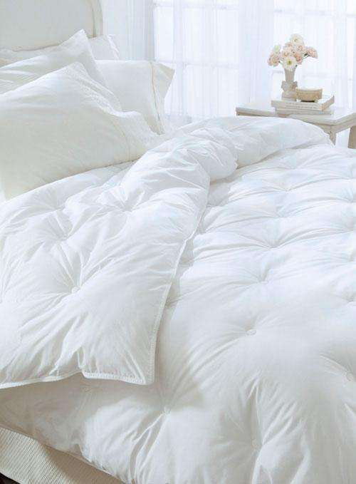 Clean White Down Alternative Tufted Comforter From Bedding