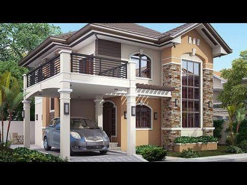 Simple House Designs With Low Cost Youtube Fachadas De Casas Casas Contemporaneas Ideias De Casas