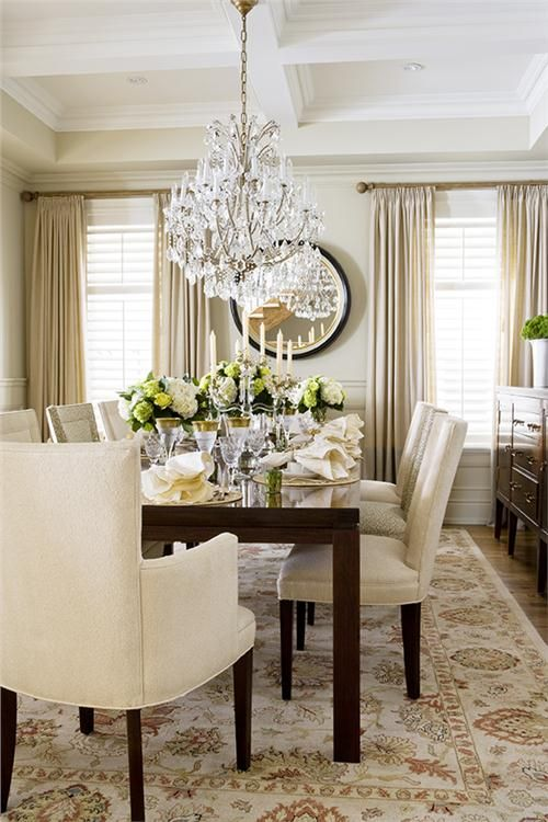 Formal Transitional Dining Room By Jeffrey And Deborah