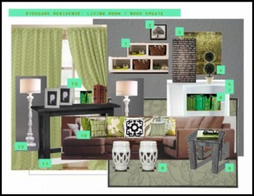 Mood boards living rooms and design on pinterest for Modern living room mood board