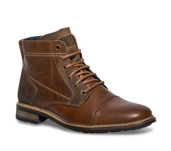 Boots cuir marron - Boots - Chaussures homme