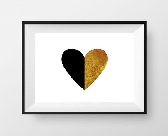 Affiche Imprimable Love Cœur (fichier numérique)