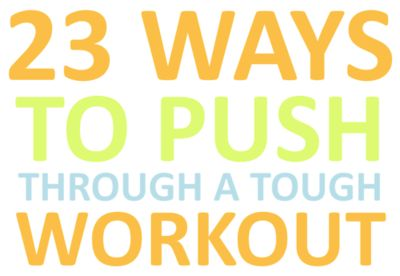 If exercise were easy, everyone would do it. But in fact, only 60 percent of Americans exercise regularly— and that includes walks and other leisure activities. But there are ways to push through the invisible wall and squeeze every last drop out of a workout.   http://greatist.com/fitness/23-ways-to-push-through-a-tough-workout/