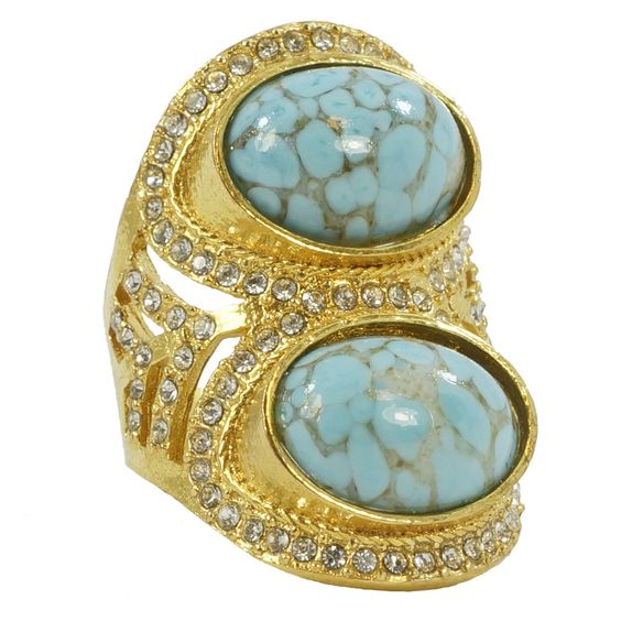 Double Oval Gemstone Ring