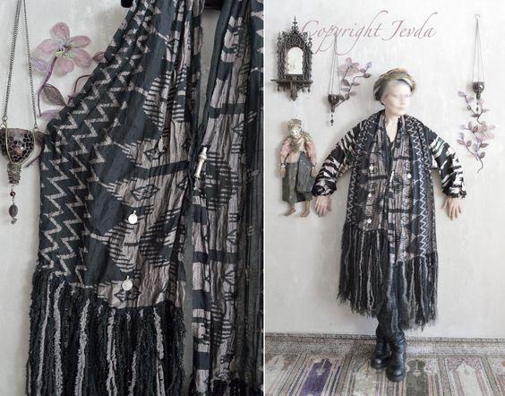 unique scarf, handmade scarf, fringe scarf, long scarf, gray scarf, soft scarf…