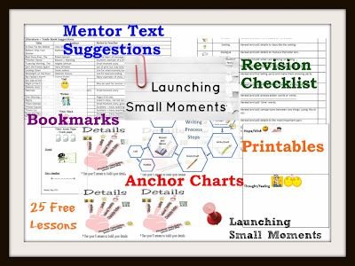25 Amazing and Free Common Core Lessons to Launch your Writer's Workshop (includes printables and anchor charts)