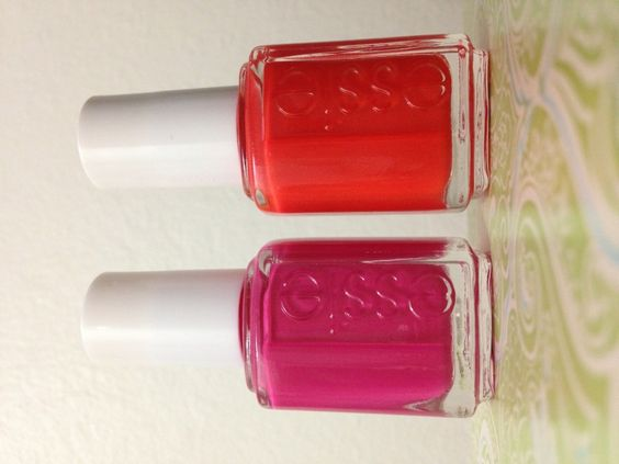 Fiesta and Saturday Disco Fever by Essie. Nailpolishpursuit.com