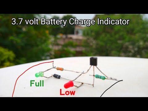 How To Make 3 7v Battery Full Low Level Indicator Youtube Electronics Basics Automatic Battery Charger Battery