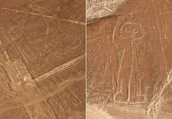 Líneas de Nazca (Peru): El Loro yel Astronauta.
