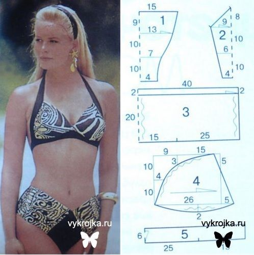 Bikini pattern... like the top but would probably go with a more vintage style bottom, if ever...: