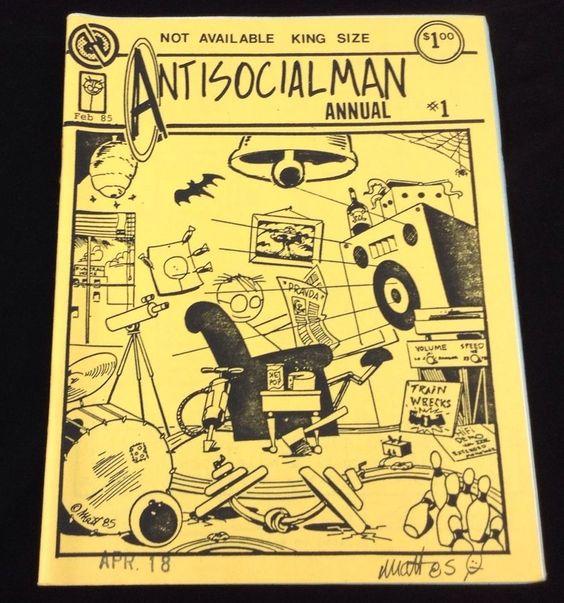 Antisocialman Annual #1 Underground Comix Matt Feazell Signed Mini-Comic 1985 #UndergroundComix #MattFeazell #Minicomics
