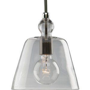 Progress Lighting P5184-104 1-Light Stem Hung Mini-Pendant with Clear Glass, Polished Nickel #lighting