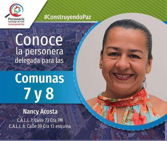 Resultado de imagen de Personera Delegada Nancy Acosta