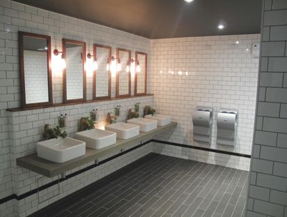 commercial restroom design examples great example of a metro subway