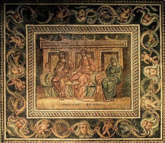 Красива Zeugma мозайка: