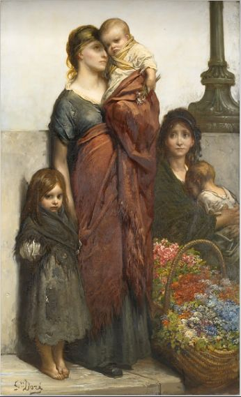 """""""Flower sellers of London""""  by  Gustave Dore'"""