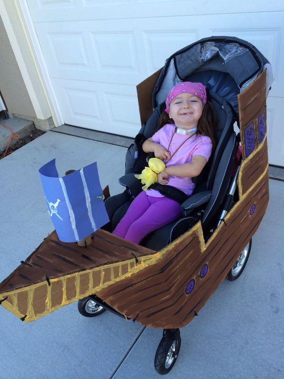 pirate ship wheelchair halloween costume
