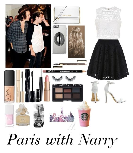 """Paris with Narry"" by icewithcherry ❤ liked on Polyvore featuring Ally Fashion, MICHAEL Michael Kors, Lipsy, NARS Cosmetics, Dolce&Gabbana, Shiseido, Charlotte Tilbury, MAC Cosmetics, Clarins and Christian Dior"