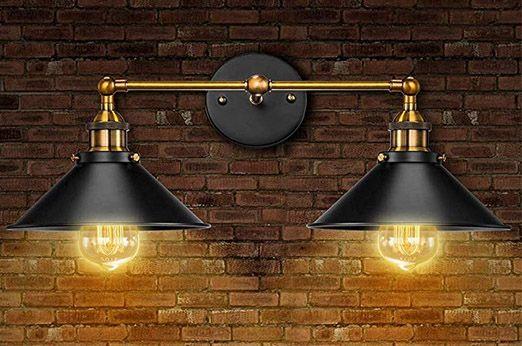 Badezimmer Wandleuchte Farmhouse Schwarz Gold Wandleuchte Einrichtungsideen Wande