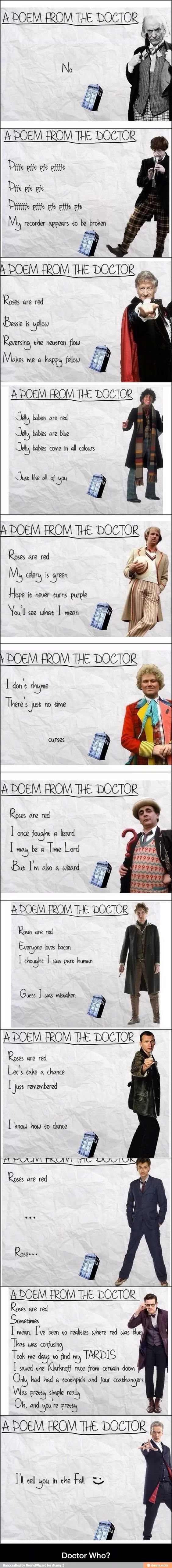 Poems by the doctors - Doctor Who
