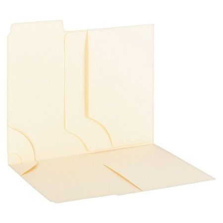 Smead® 3-In-1 Supertab Section Folders, 1/3 Cut Top Tab, Letter, Manila, 12/pack : Target