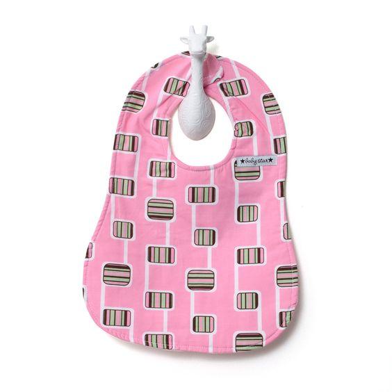 Hopscotch Pink Bib #mybabystar