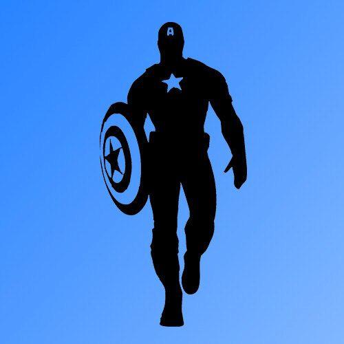 Captain America Hero Vinyl Wall Decal Sticker Room Art By